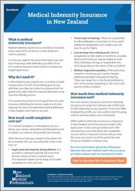 Access your free indemnity insurance fact sheet now